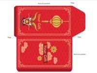 Enveloppe Rouge à imprimer