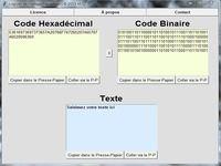 Convertisseur Binaire - Hexadécimal - ASCII