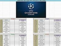 Calendrier Ligue des Champions 2014