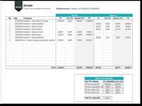 Tableau de suivi de TVA pour CA3