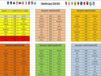Calendrier Ligue 1 2014-215
