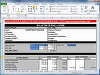 Modèle de fiches de paie cadre et non cadre