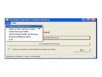 Outlook Express Quick Backup