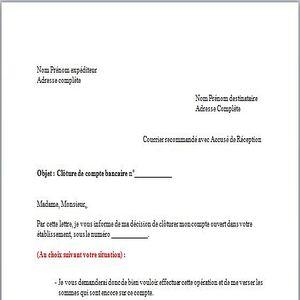 exemple lettre de cloture de compte bancaire Télécharger Modèle de Lettre clôture de compte bancaire gratuit  exemple lettre de cloture de compte bancaire