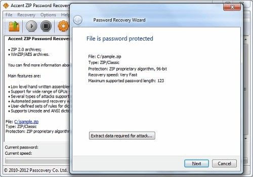 Telecharger Accent ZIP Password Recovery