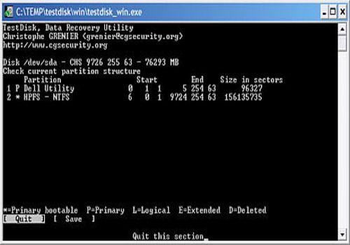 testdisk gratuit pour windows