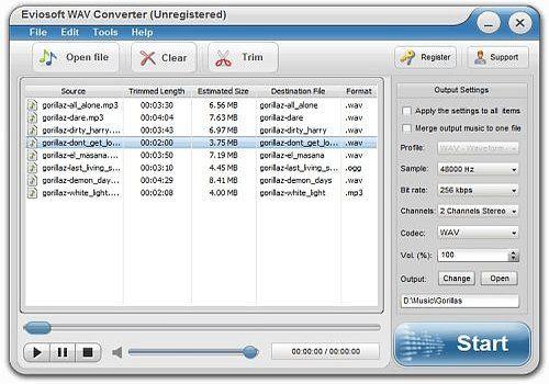 Telecharger Eviosoft WAV Converter