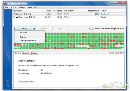 Telecharger Auslogics Disk Defrag