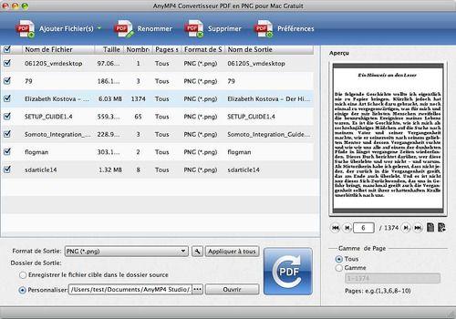 Telecharger AnyMP4 Convertisseur PDF en PNG pour Mac Gratuit