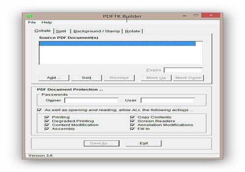 Telecharger PDFTK Builder