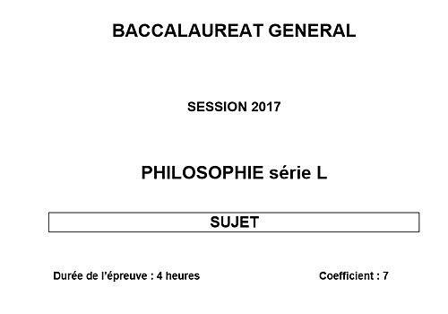 Telecharger Sujet Bac 2017 Philosophie - Série L