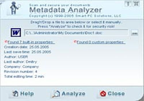 Telecharger Metadata Analyzer
