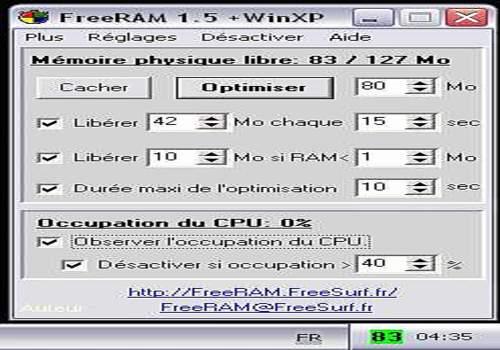 Telecharger FreeRAM