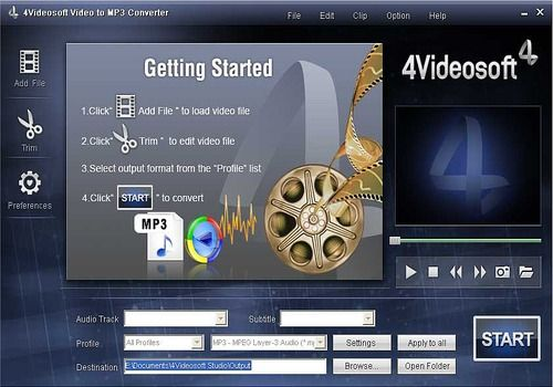 Telecharger 4Videosoft Convertisseur vidéo en MP3