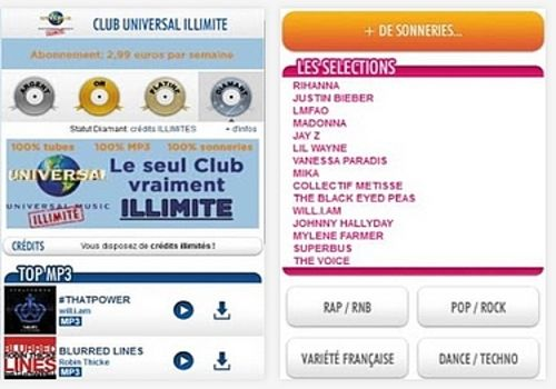 Telecharger Club Universal Music Illimité Android