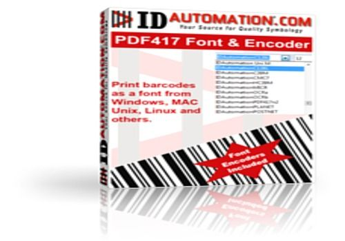 Telecharger IDAutomation PDF417 Font and Encoder