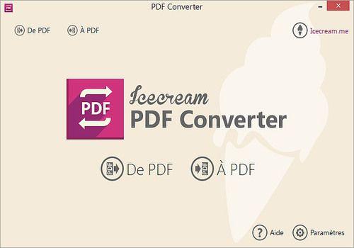 Telecharger Icecream PDF Converter 2.74