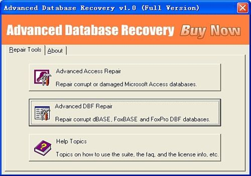 Telecharger Advanced Database Recovery