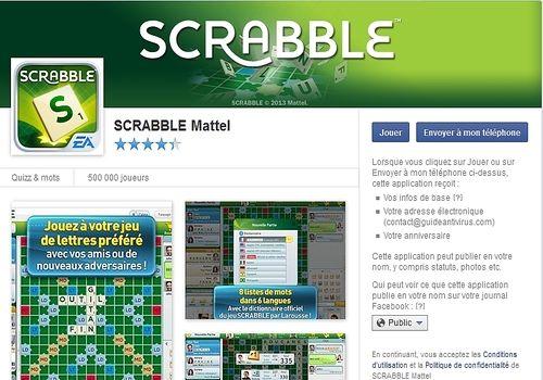 Telecharger scrabble facebook