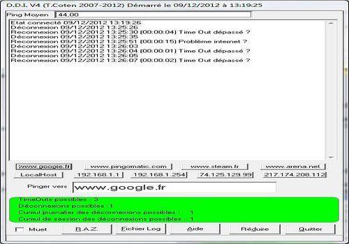 Telecharger Détection Déconnexions ADSL V4 (DDI)