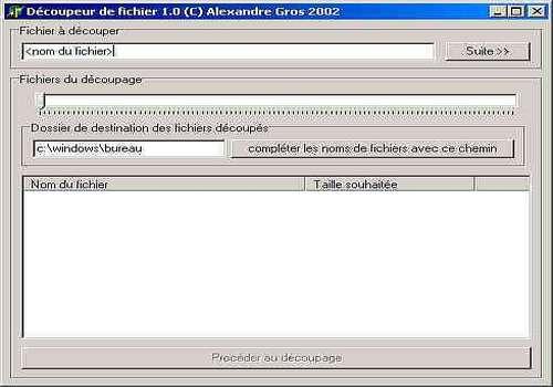 Telecharger Découpeur de fichier