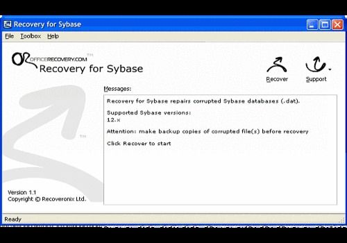 Telecharger Recovery for Sybase