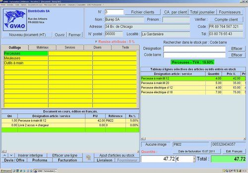 Telecharger GVAO Devis Facture 2012