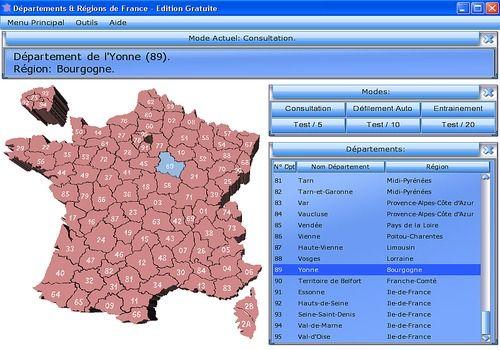 Telecharger Départements & Régions de France