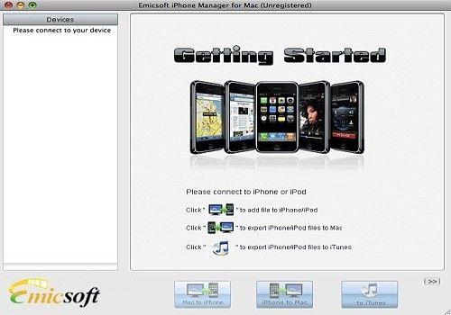 Telecharger Emicsoft iPhone Gestionnaire pour Mac