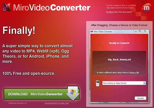 Telecharger Miro Video Converter
