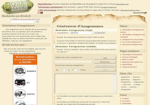 Telecharger Dcode Générateur d'anagramme