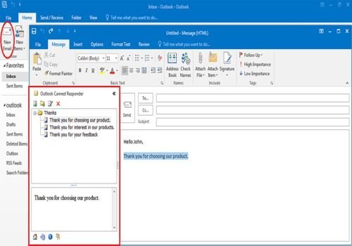 Telecharger Outlook Canned Responder 2.1