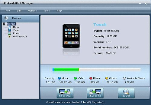 Telecharger Emicsoft iPod Manager