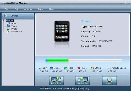 Telecharger Emicsoft iPod Manager