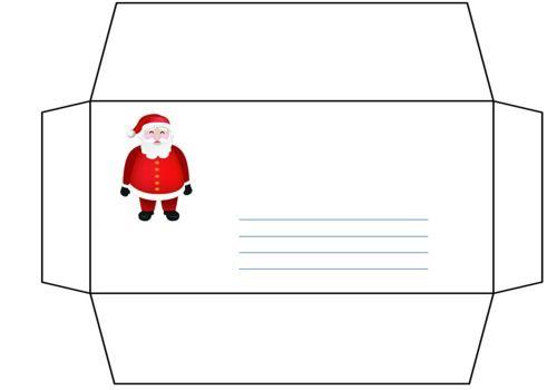T l charger lettre et enveloppe p re no l gratuit le logiciel gratuit - Enveloppe de noel ...