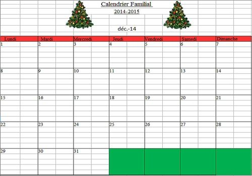 Telecharger Calendrier Familial 2014-2015