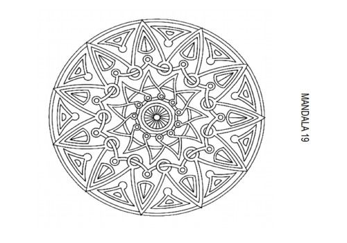 Telecharger Atelier Mandala - Coloriage PDF
