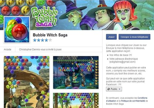 Telecharger Bubble Witch Saga Facebook