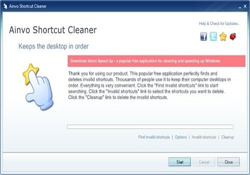 Telecharger Ainvo Shortcut Cleaner