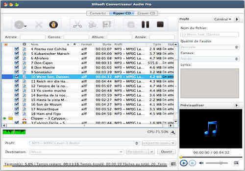 Telecharger Xilisoft Convertisseur Audio Pro pour Mac