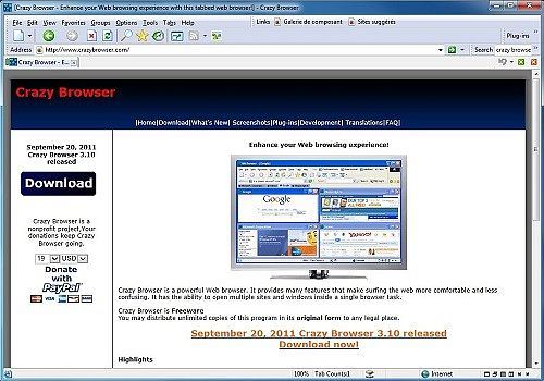 Telecharger Crazy Browser