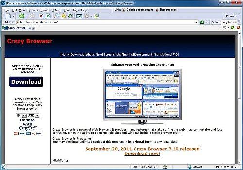Telecharger Crazy Browser