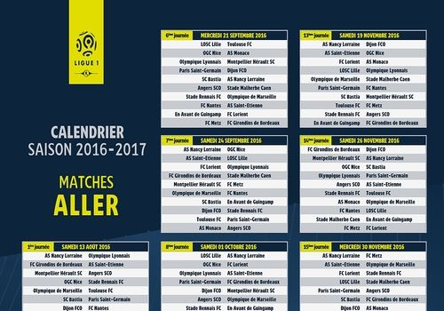 Telecharger Calendrier Ligue 1 2016-2017