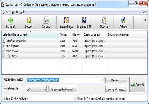 Telecharger Doxillion  - Convertisseur de documents gratuit (2.70)