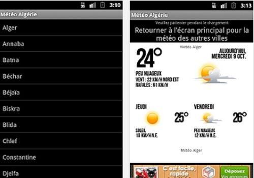 Telecharger Météo Algérie Android