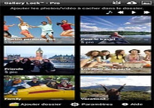 Telecharger Gallery Lock Pro (français)