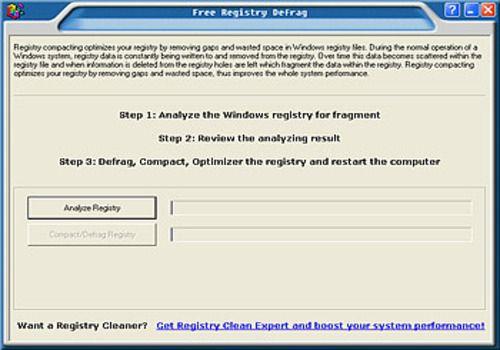 Telecharger Free Registry defrag