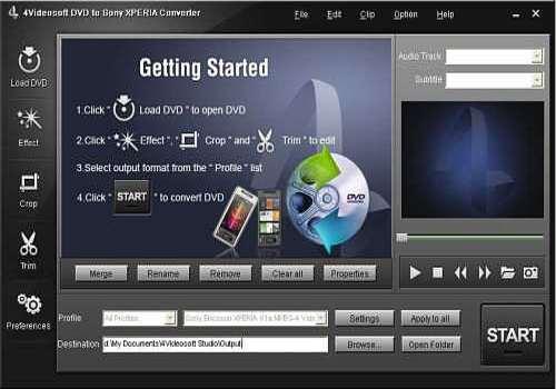 Telecharger 4Videosoft Convertisseur DVD en Sony XPERIA