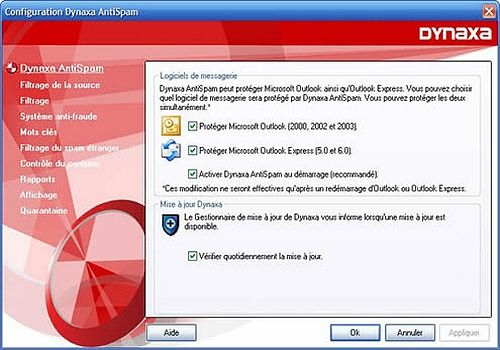 Telecharger Dynaxa Anti-Spam (version compatible Vista)