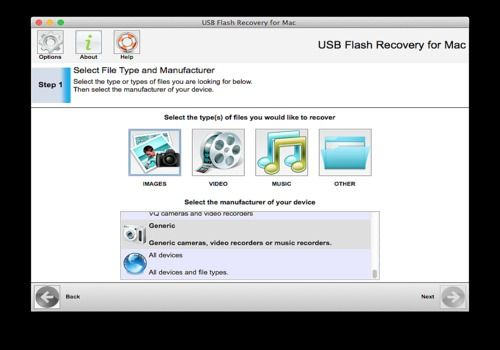 Telecharger 321Soft USB Flash Recovery for Mac